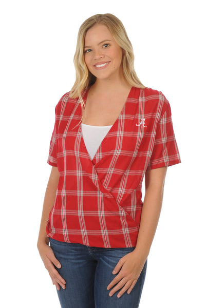 Alabama Crimson Tide Plaid Wrap Top