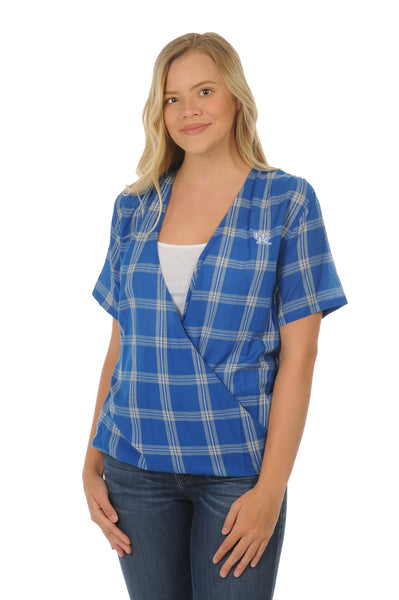 Kentucky Wildcats Plaid Wrap Top