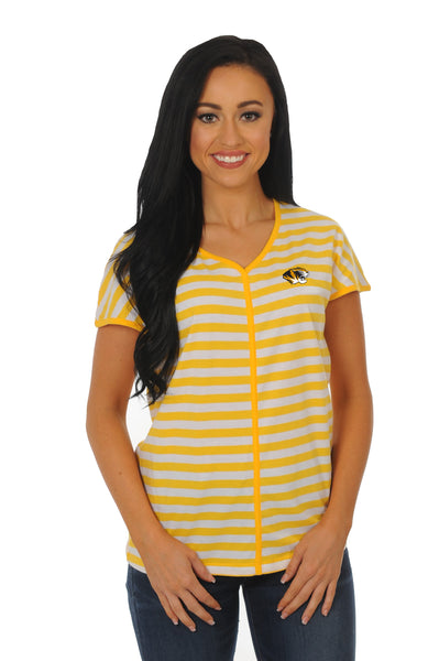 University of Missouri Striped Dolman Tee