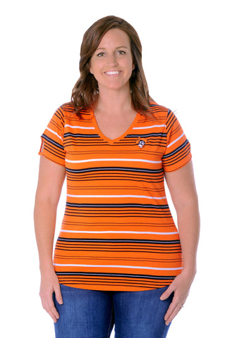 Plus Size Oklahoma State Cut-Out Spirit Tee