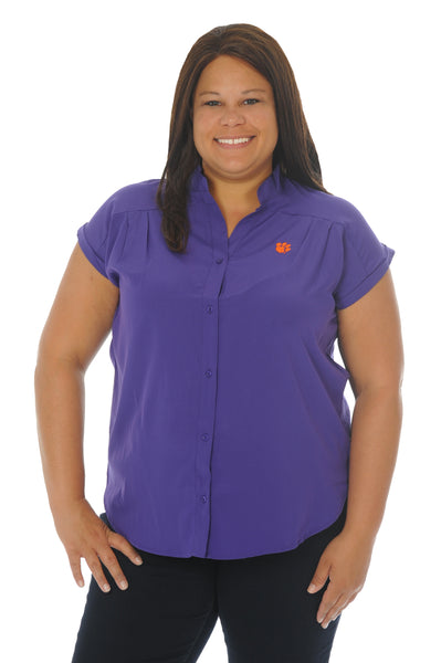 Plus Size Clemson Tigers Day to Night Tunic Top
