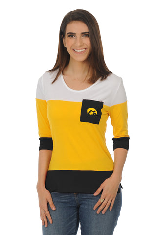University of Iowa Colorblock Top