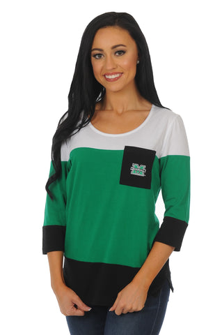 Marshall Thundering Herd Colorblock Top