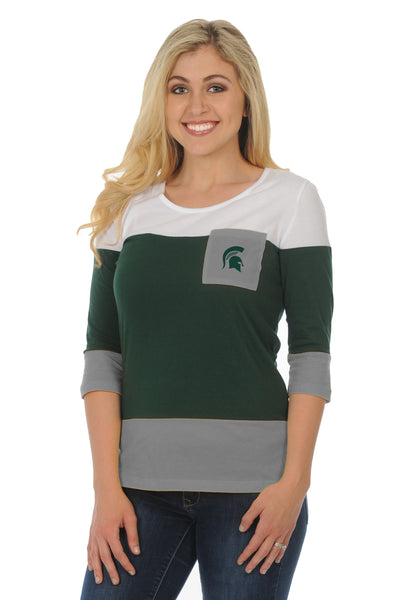 Michigan State Spartans Colorblock Top