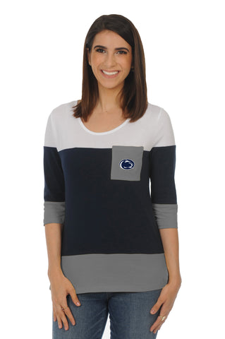 Penn State Colorblock Top