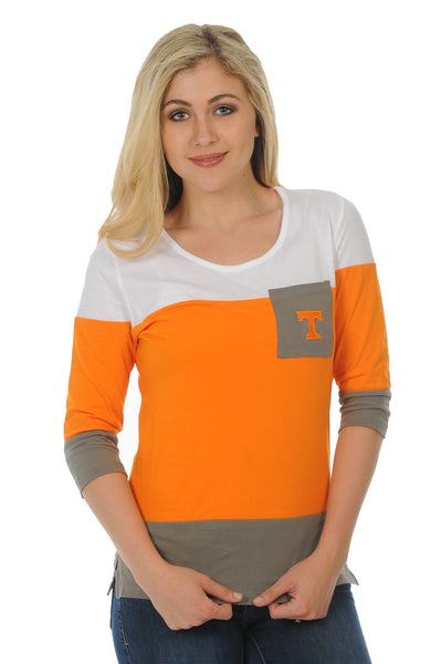 Tennessee Volunteers Colorblock Top