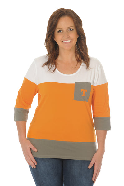 Plus Size Tennessee Volunteers Colorblock Top
