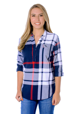 Gonzaga Bulldogs Plaid Tunic Top