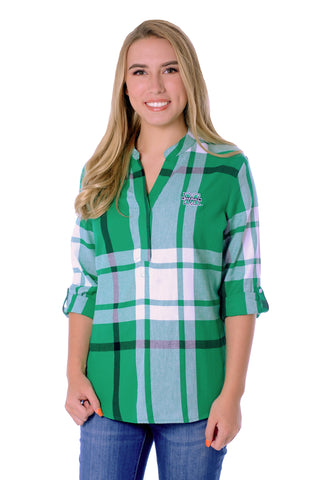 Marshall Thundering Herd Plaid Tunic Top