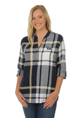 Pittsburgh Panthers Plaid Tunic Top