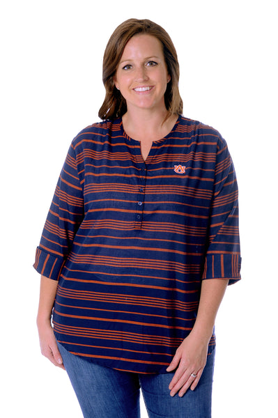 Plus Size Auburn Tigers School Spirit Tunic