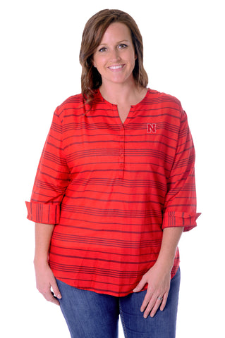 Plus Size University of Nebraska School Spirit Tunic