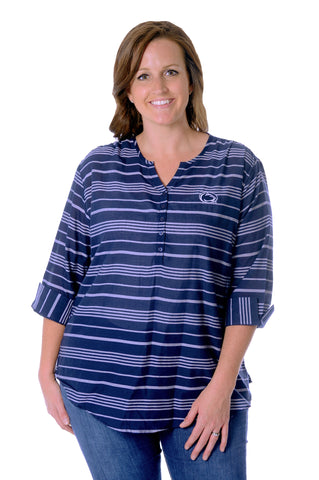 Plus Size Penn State University School Spirit Tunic