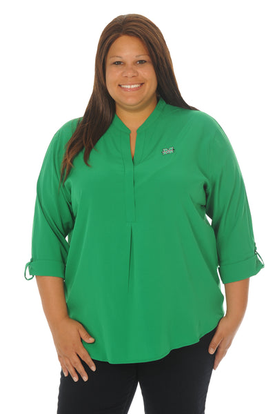 Plus Size Marshall University Kelly Green Classic Tunic