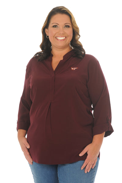 Plus Size Virginia Tech Hokies Maroon Classic Tunic