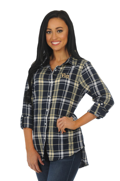Pittsburgh Panthers Boyfriend Plaid Flannel