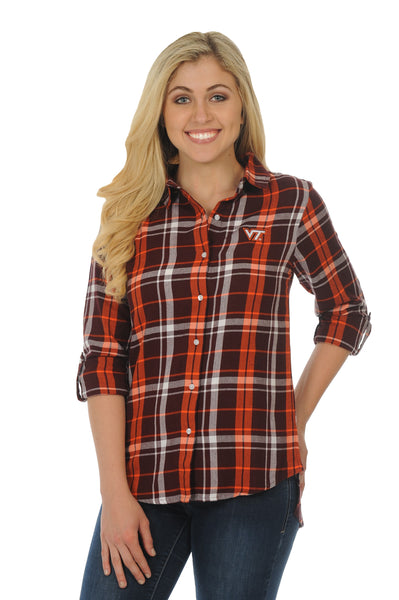 Virginia Tech Hokies Boyfriend Plaid Flannel