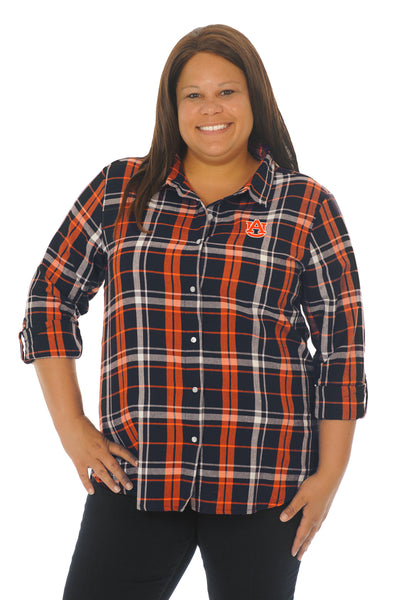 Auburn Tigers Plus Size Boyfriend Plaid