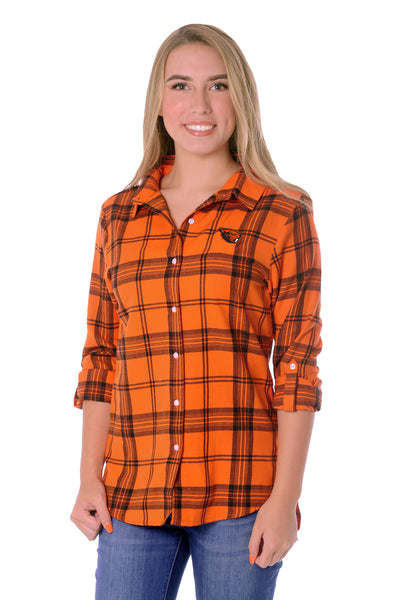 Oregon State Beavers Boyfriend Plaid Top