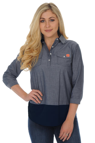 Auburn Tigers Chambray Tunic Top