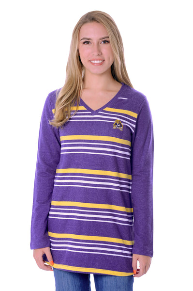 East Carolina Pirates Striped Fleece Top