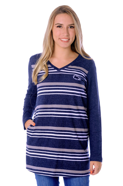 Penn State Striped Fleece Top