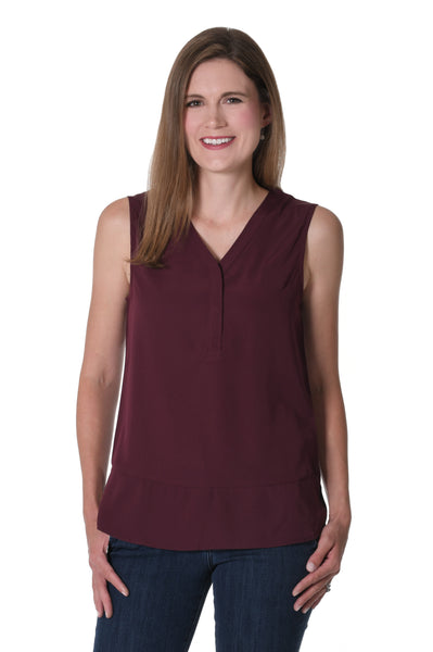 Maroon Tunic Tank Top