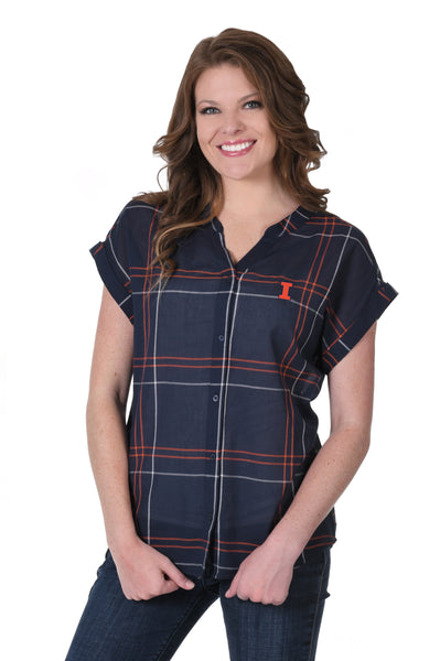 University of Illinois Plaid Shirt