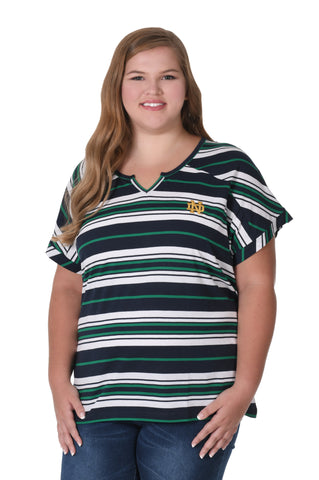 Plus Size Notre Dame Let's Tailgate Tee