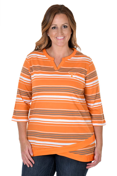 Tennessee Volunteers Plus Size Asymmetrical Tunic