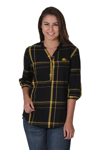 Iowa Hawkeyes Plaid Tunic
