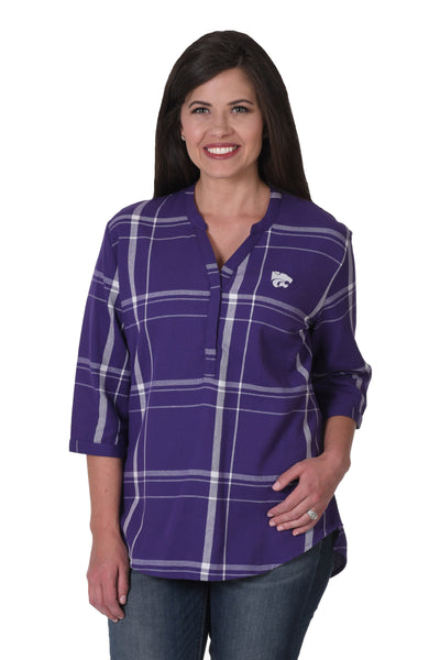 Kansas State Plaid Tunic