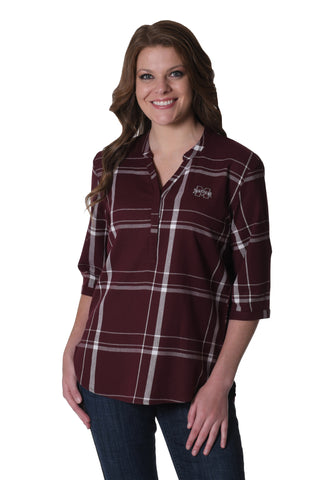 Mississippi State Bulldogs Plaid Tunic