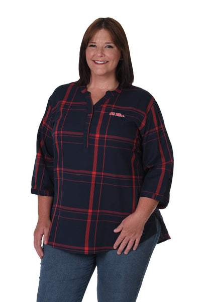 Ole Miss Plus Size Top