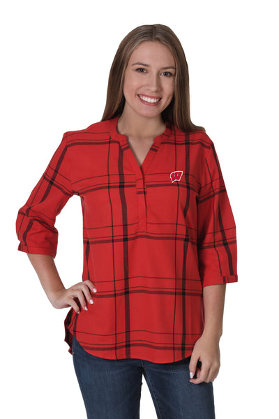 Wisconsin Plaid Tunic