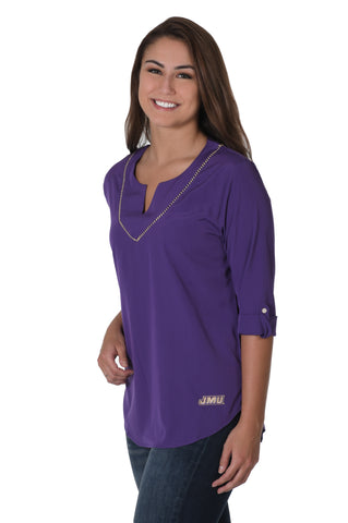James Madison Dukes Stitched Neckline Tunic