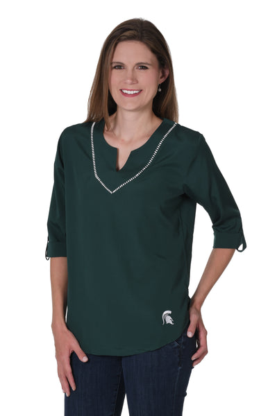 Michigan State Spartans Stitched Neckline Tunic