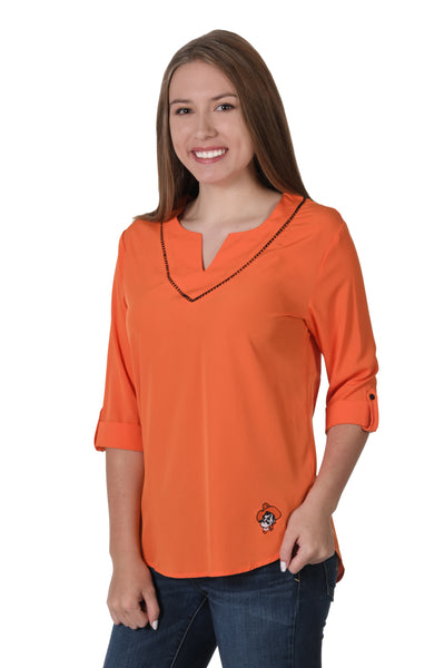 Oklahoma State Cowboys Stitched Neckline Tunic