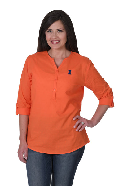 Illinois Fighting Illini Orange Swiss Dot Tunic