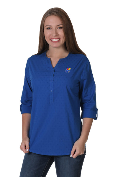 Kansas Jayhawks Swiss Dot Tunic