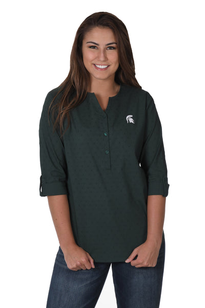 Michigan State button down shirt