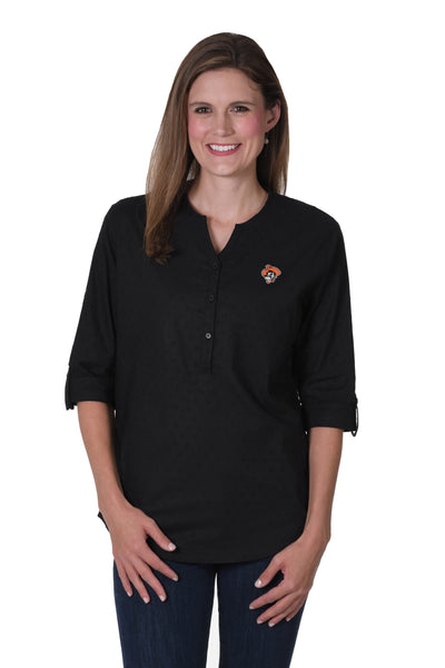 Oklahoma State Button Down Black Shirt