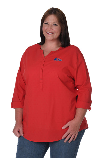 Ole Miss plus size button down