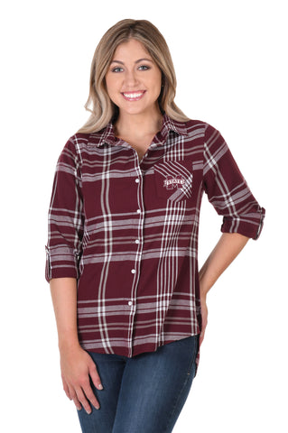 Mississippi State Bulldogs Boyfriend Plaid Flannel