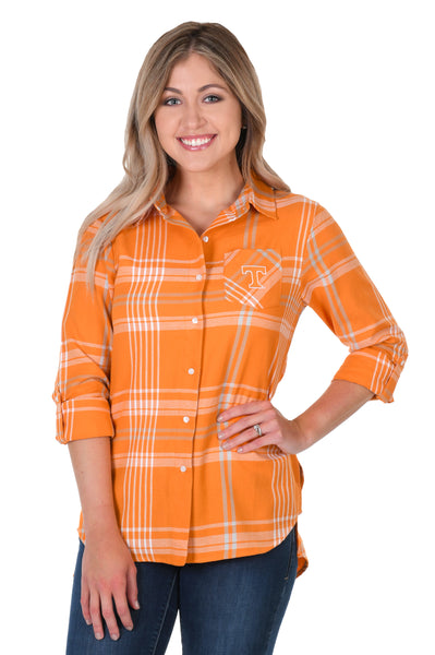Tennessee Volunteers Boyfriend Plaid Shirt