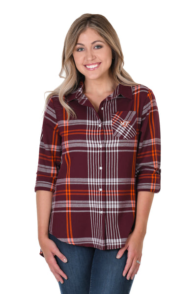 Virginia Tech Hokies Boyfriend Plaid Shirt