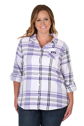 NYU plus size women's blouse