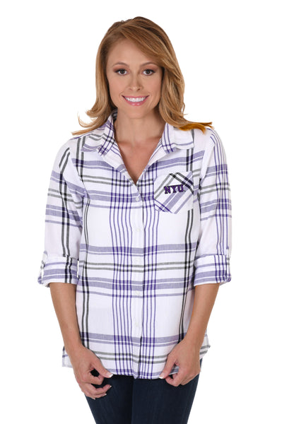 NYU Boyfriend Plaid Flannel