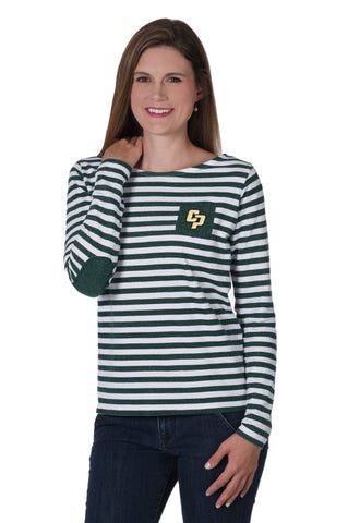 Cal Poly Mustangs Elbow Patch Fleece