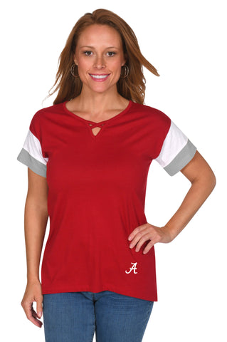 Alabama Crimson Tide Colorblock Keyhole Top